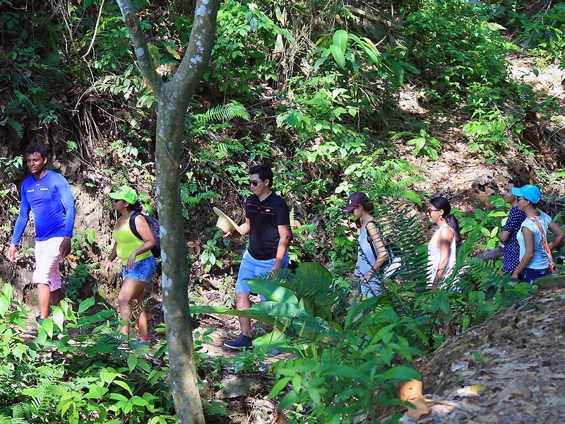 Caminata durante tour en Rio Don Diego Sierra Nevada de Santa Marta