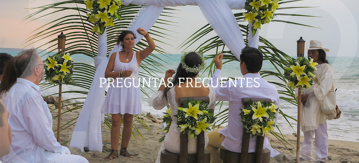 Matrimonio indigena en la playa de finca La Jorara en la Sierra Nevada de Santa Marta